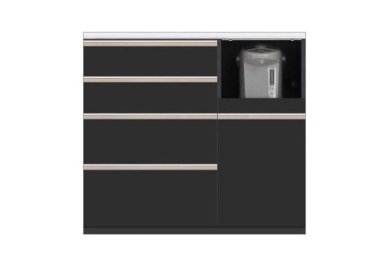 カウンター Nサイゼスト105 (ブラック):欲しいサイズがきっと見つかる 小物類はイメージです。