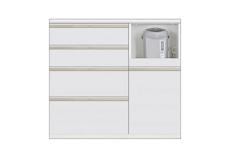 カウンター Nサイゼスト105 (ホワイト):欲しいサイズがきっと見つかる 小物類はイメージです。