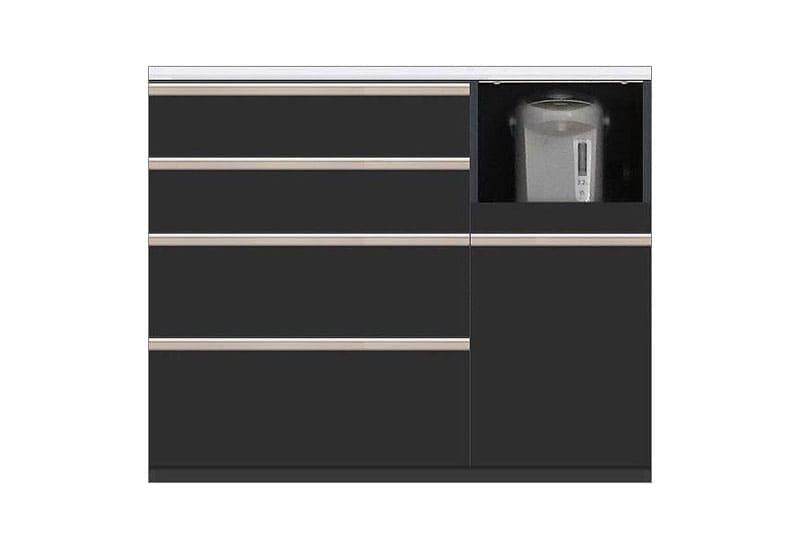 カウンター Nサイゼスト115 (ブラック):欲しいサイズがきっと見つかる 小物類はイメージです。