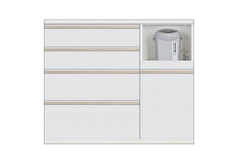 カウンター Nサイゼスト115 (ホワイト):欲しいサイズがきっと見つかる 小物類はイメージです。