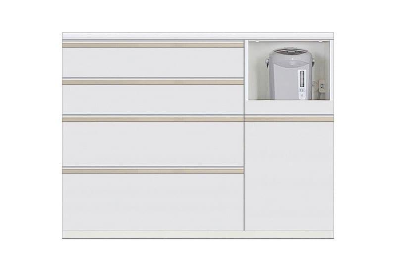 カウンター Nサイゼスト120 (ホワイト):欲しいサイズがきっと見つかる 小物類はイメージです。