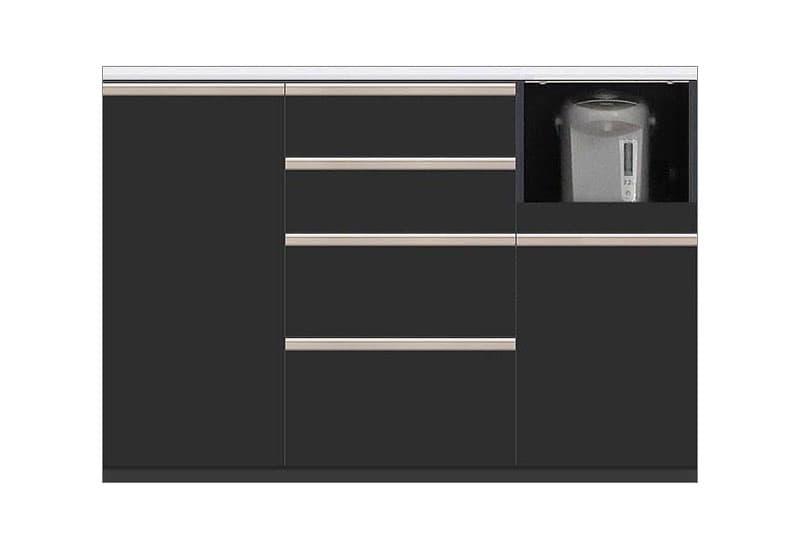 カウンター Nサイゼスト130 (ブラック):欲しいサイズがきっと見つかる 小物類はイメージです。