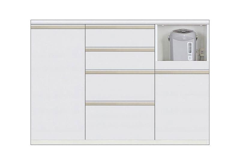 カウンター Nサイゼスト130 (ホワイト):欲しいサイズがきっと見つかる 小物類はイメージです。