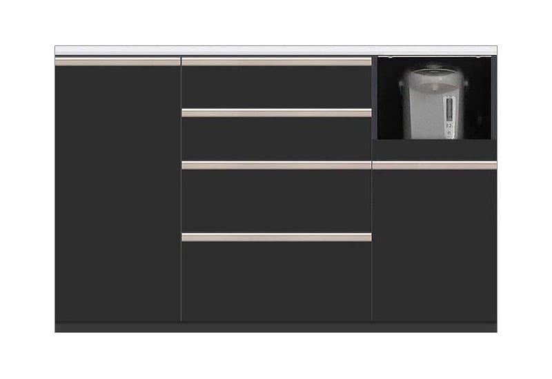カウンター Nサイゼスト140 (ブラック):欲しいサイズがきっと見つかる 小物類はイメージです。