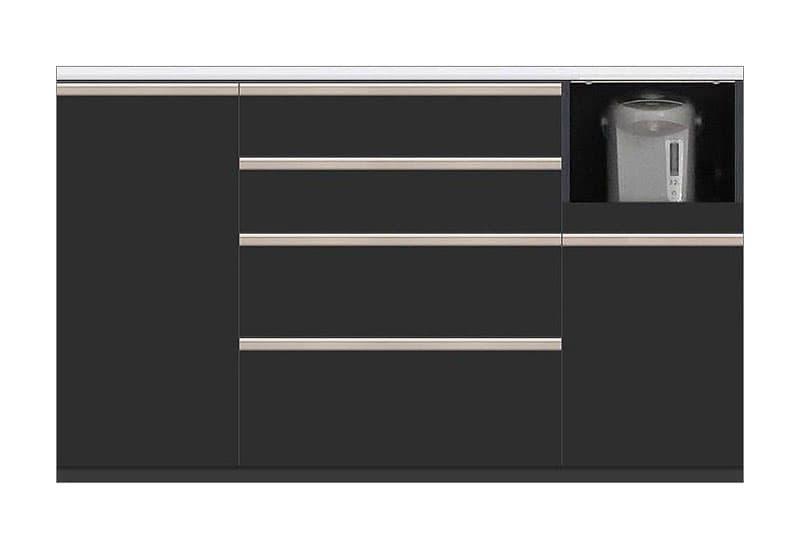 カウンター Nサイゼスト155 (ブラック):欲しいサイズがきっと見つかる 小物類はイメージです。