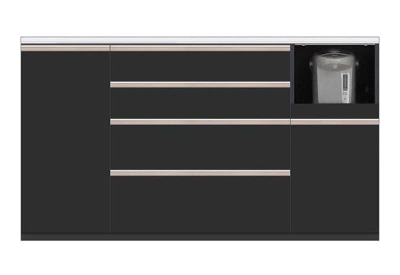 カウンター Nサイゼスト160 (ブラック):欲しいサイズがきっと見つかる 小物類はイメージです。