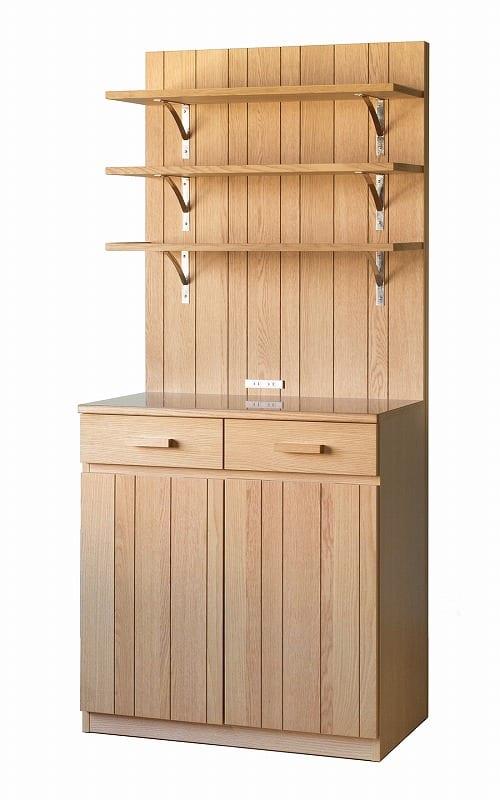 ダイニングボードカフェ 80シェルフボード ナチュラル:《もっと自分らしく、キッチン空間を楽しむ」というコンセプト》