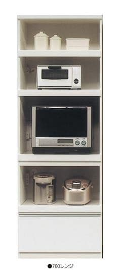 ダイニングボード ホワイティ 700レンジ WH:《シンプルデザインのキッチン収納「ホワイティ」》