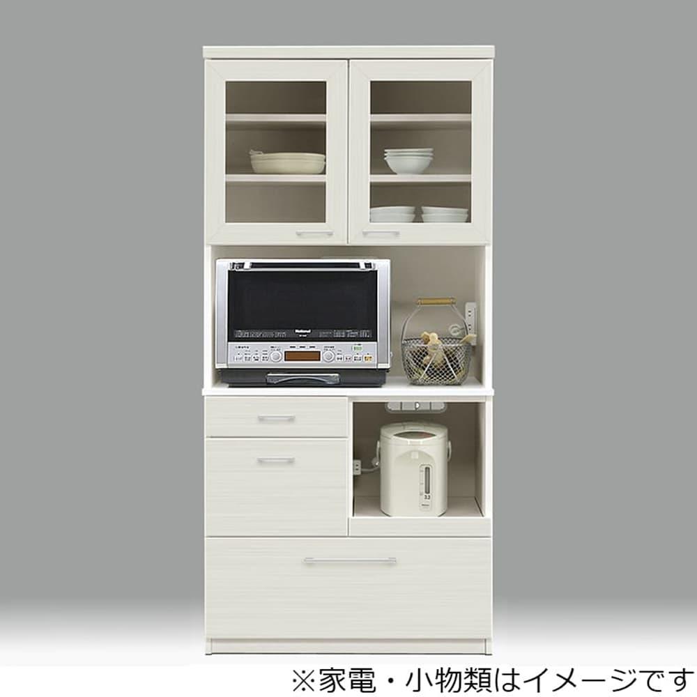 ダイニングボード ペレットΣ (オプション:モイス加工付き) 85OP WH木目:収納に合わせてお好みのサイズをチョイス 小物類はイメージです