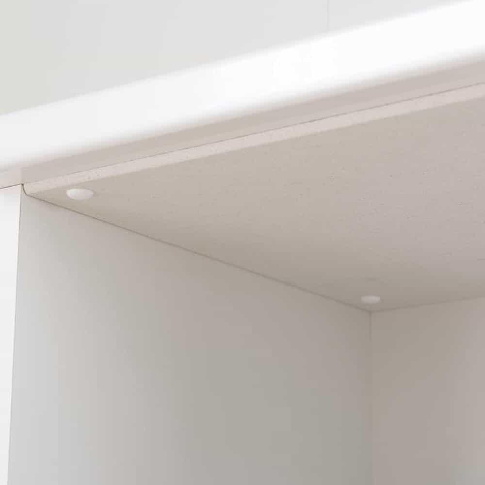 ダイニングボード ペレットΣ (オプション:モイス加工付き) 100OP WH木目:スライド棚天面の取り付けイメージ