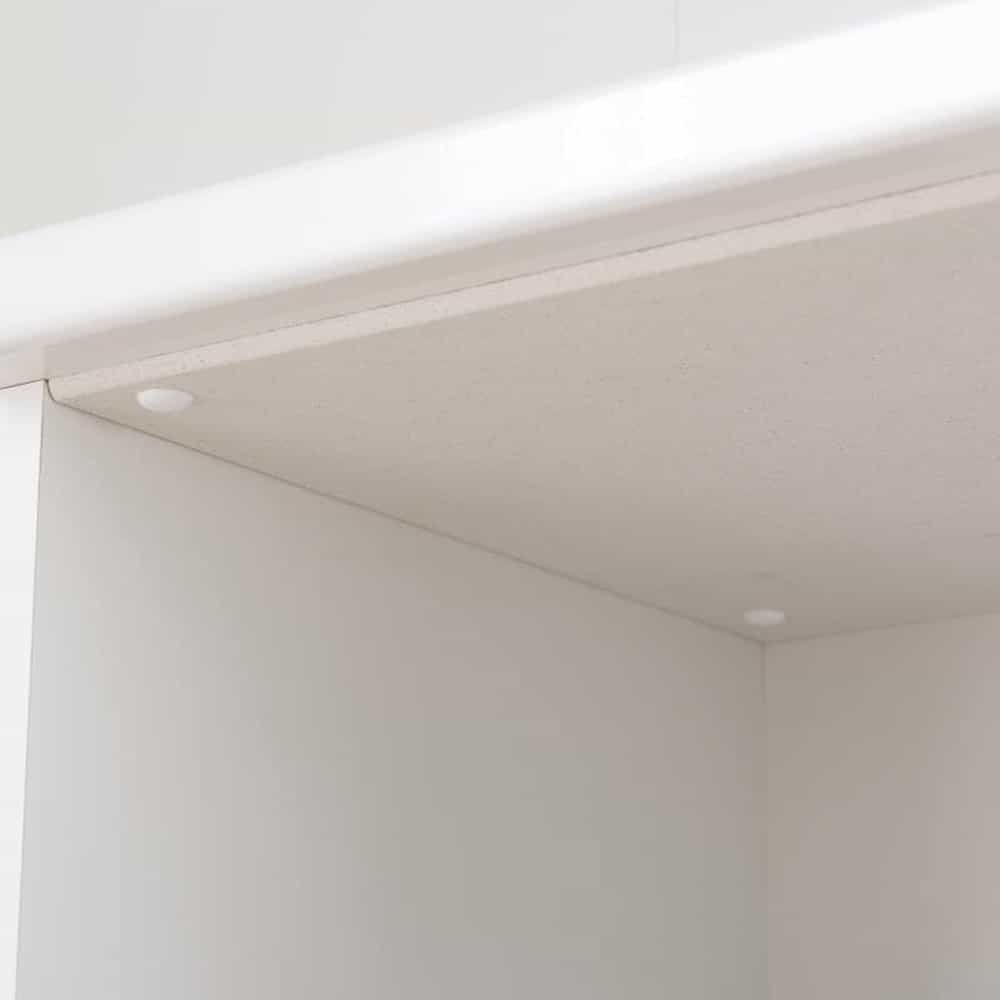 ダイニングボード ペレットΣ (オプション:モイス加工付き) 60OP2段 WN:スライド棚天面の取り付けイメージ