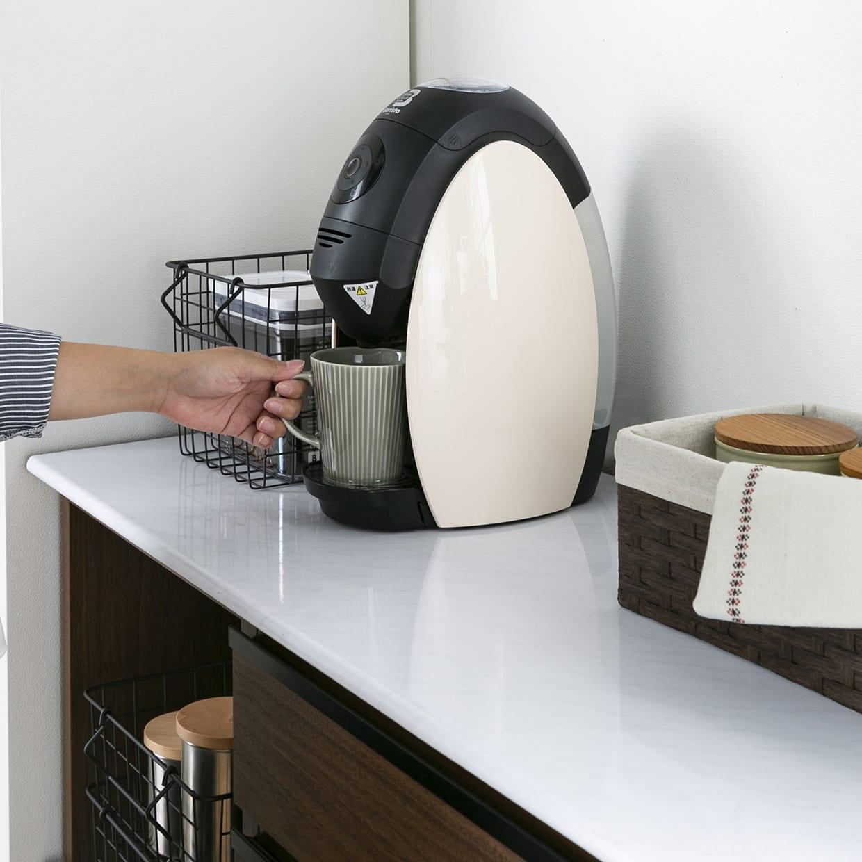 カウンター プレッソ80(WH木目):使いやすい高さに設計