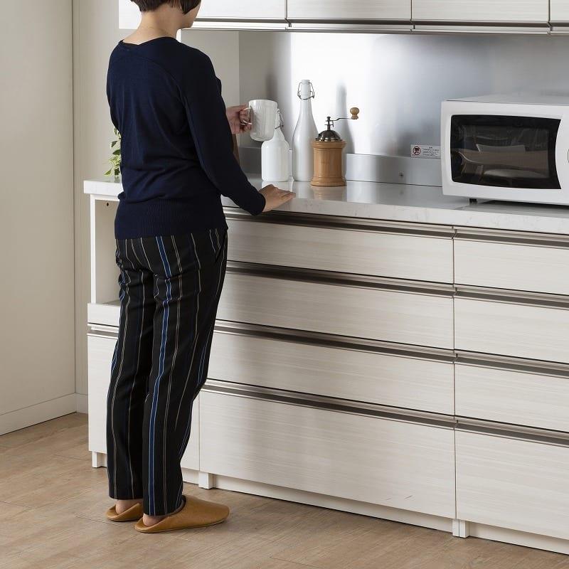 パモウナ 食器棚 スプリーム6点セット:パモウナ初のミドルカウンターを採用