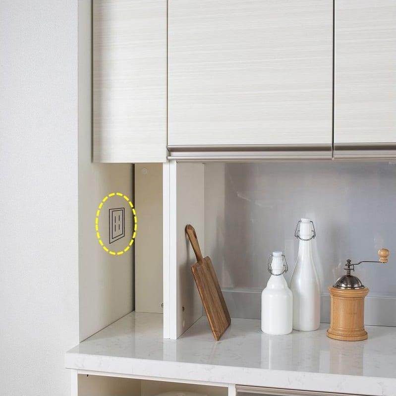 パモウナ 食器棚 スプリーム6点セット:コーナーキャビネットで壁にぴったり設置