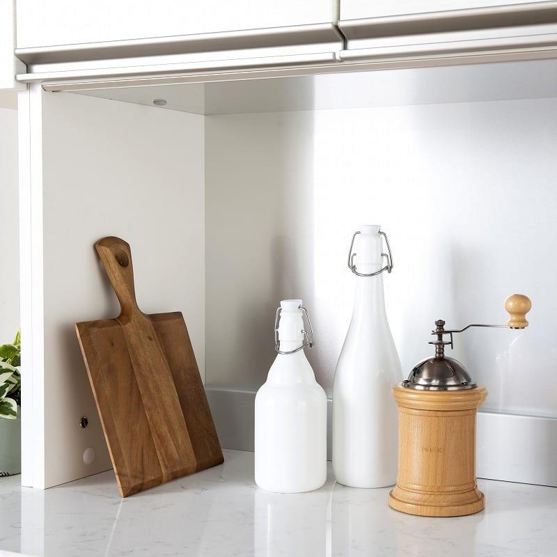 パモウナ 食器棚 スプリーム6点セット:耐久性に優れるアルミボード