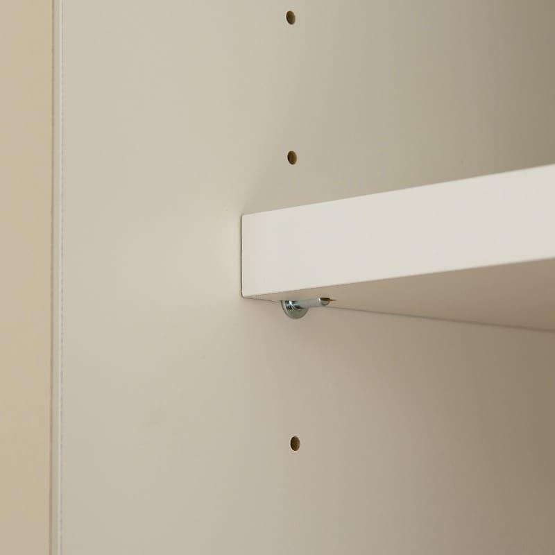 パモウナ 食器棚 スプリーム6点セット:3�pピッチで調節可能