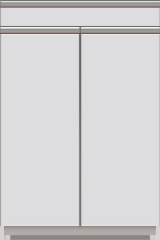 スプリーム 下台(ハイカウンター/カウンター付オープン/扉付) NEH−TS602 W:《パモウナカウンター》