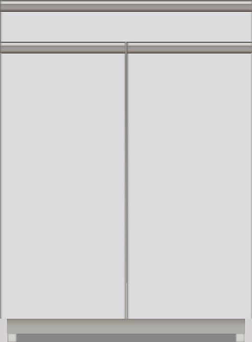 スプリーム 下台(レギュラーカウンター/カウンター付オープン/扉付) NEL−TS602 W:《パモウナカウンター》