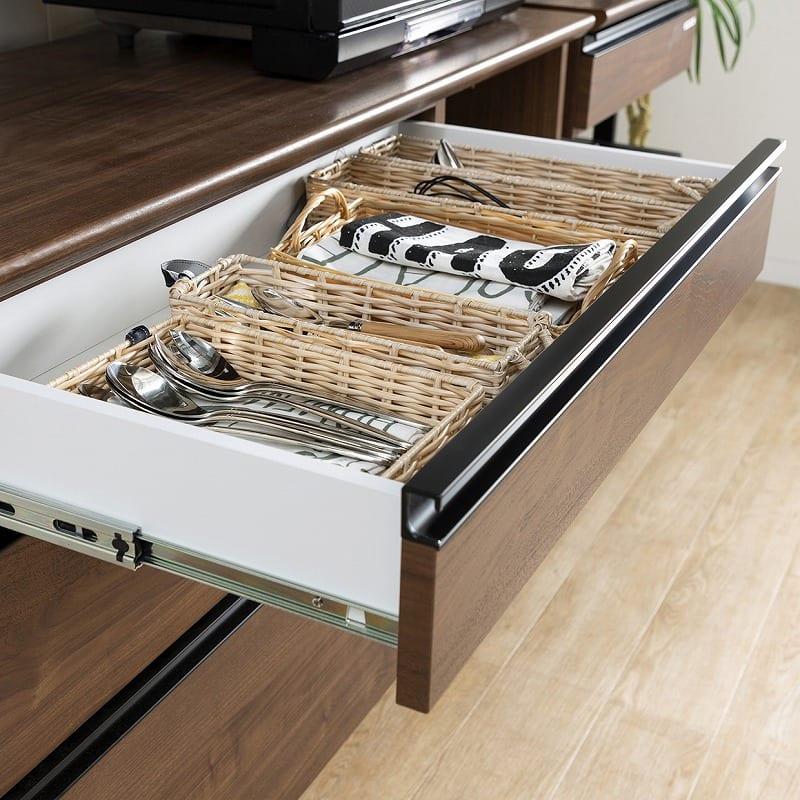 ダイニングボード スパイス60 DB ウォールナット色:食器の出し入れも簡単♪