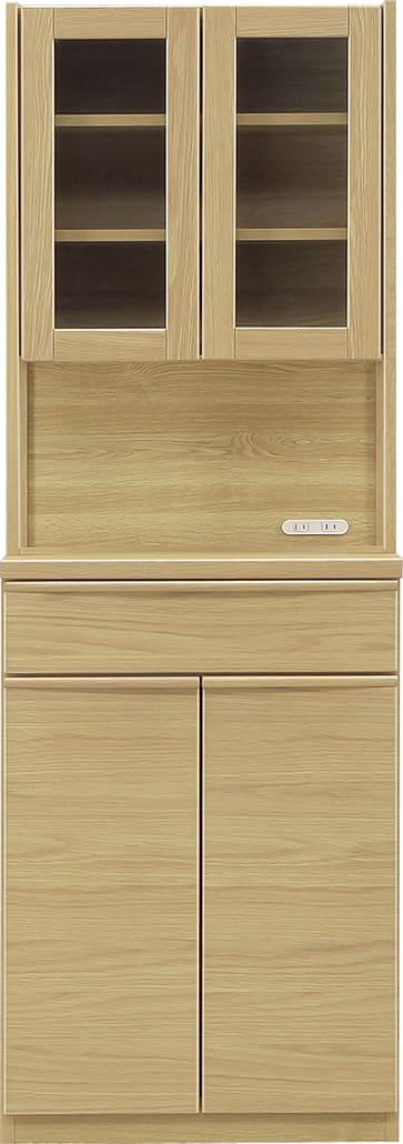 ダイニングボード タクト 60−GD ガラス/扉:おしゃれですっきりとしたキッチン空間を演出できる、見せる収納が特徴