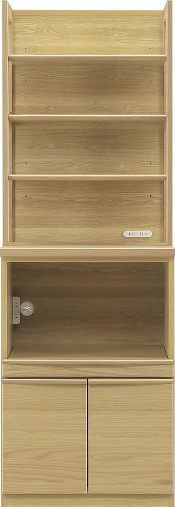 ダイニングボード タクト 60−TO 棚/オープン:おしゃれですっきりとしたキッチン空間を演出できる、見せる収納が特徴
