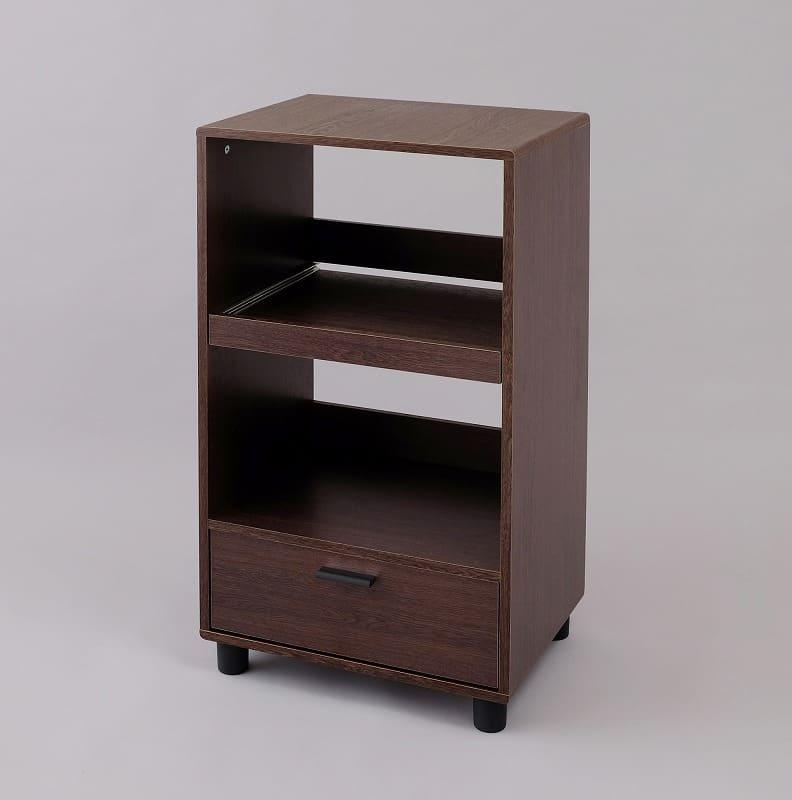 キッチン家電を収納するラック KBD−500 ブラウン:《省スペースに家電を設置収納できるレンジ台》