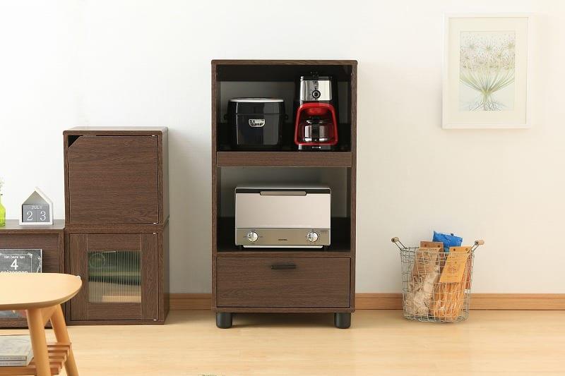 キッチン家電を収納するラック KBD−500 ブラウン