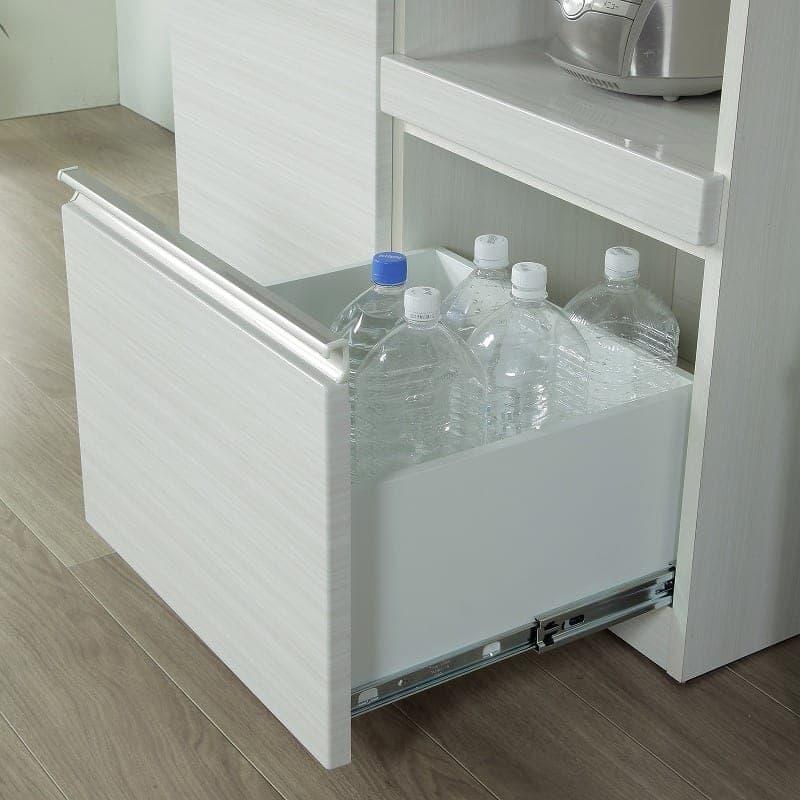カウンター フリード120 伸張カウンター:たっぷり収納できる深めの引出しも便利