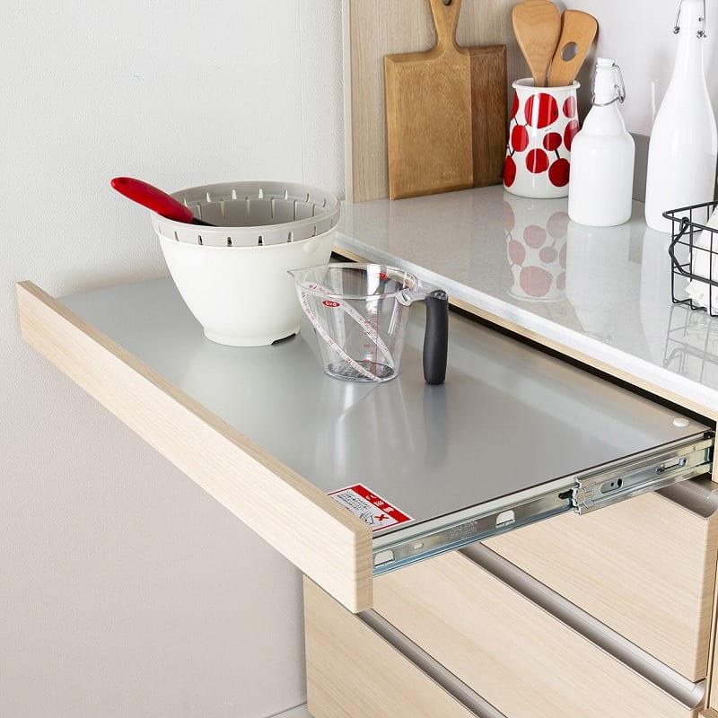 ダイニングボード WOOD LIKE 幅130cm/色NA:あったらうれしい便利なスライドテーブル!