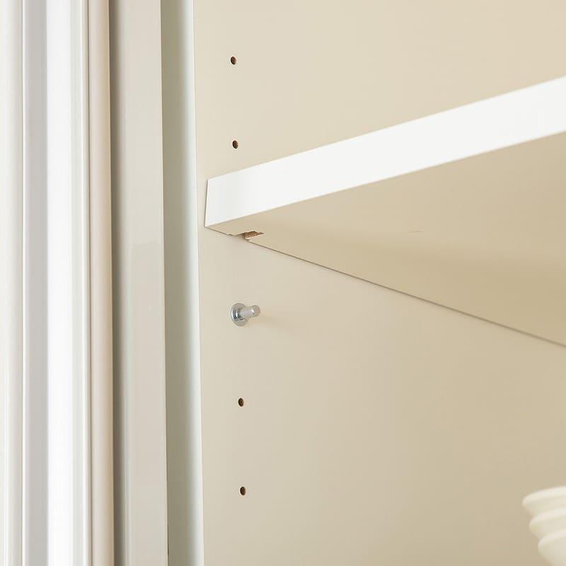 パモウナ ダイニングボード リヒト FM−900R W(プレーンホワイト):可動棚仕様