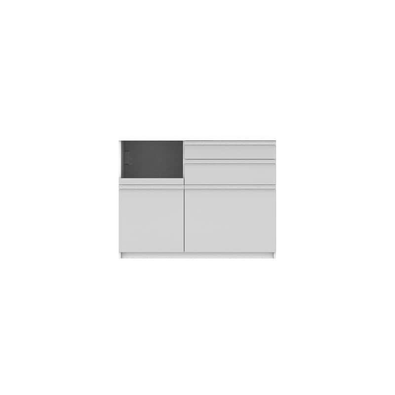 パモウナ カウンター リヒト FM−1200R下台 W(プレーンホワイト)