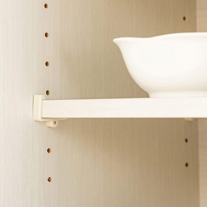 ダイニングボード シャイン120 WH木目:棚板高さ調節可能