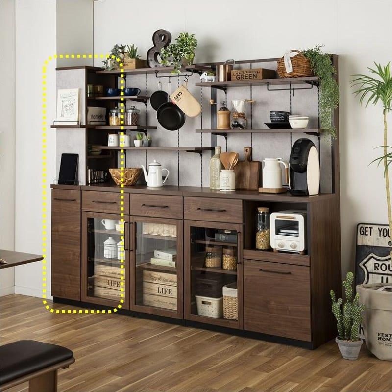 サイドキャビネット グスト ストッカー30 WN:カフェ風キッチンボード