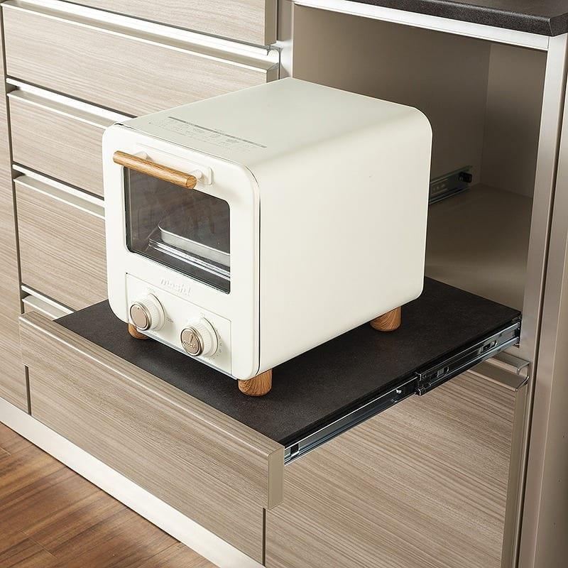 食器棚アーバン UQ−Y140FA/UQ-140K:取り出しやすいスライドトレイ
