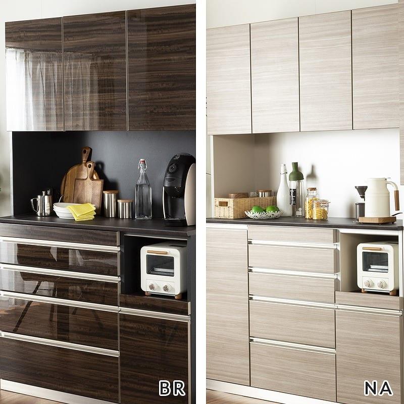 食器棚アーバン UQ−Y140FA/UQ-140K:キッチンに合わせて選べる2色