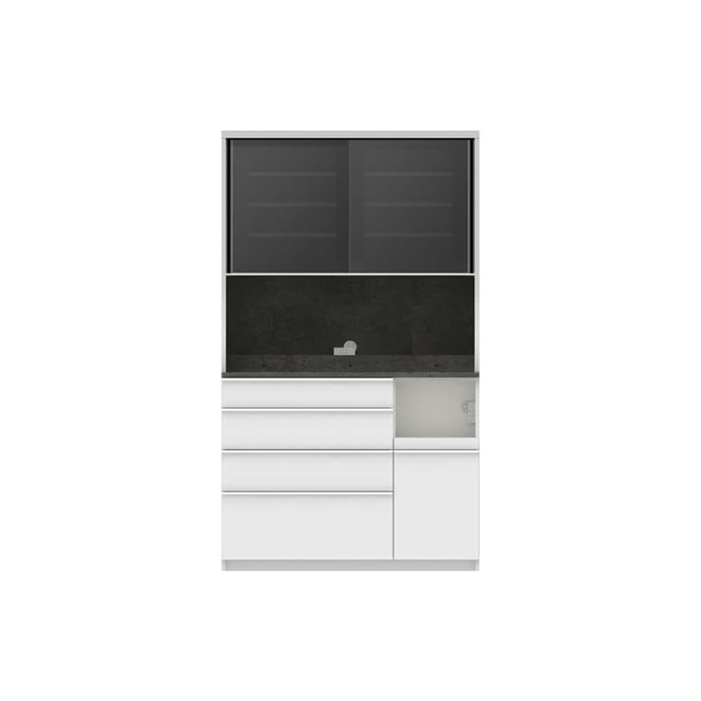 パモウナ ダイニングボード ディスペンサ RQR−1200R SG/パールホワイト:パントリーの収納術を意識した商品