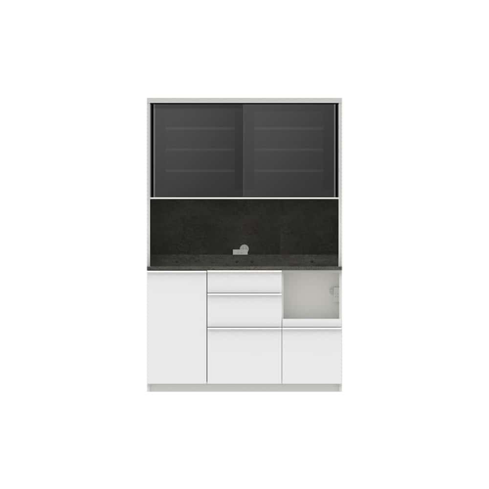 パモウナ ダイニングボード ディスペンサ RMR−1300R SG/パールホワイト:パントリーの収納術を意識した商品