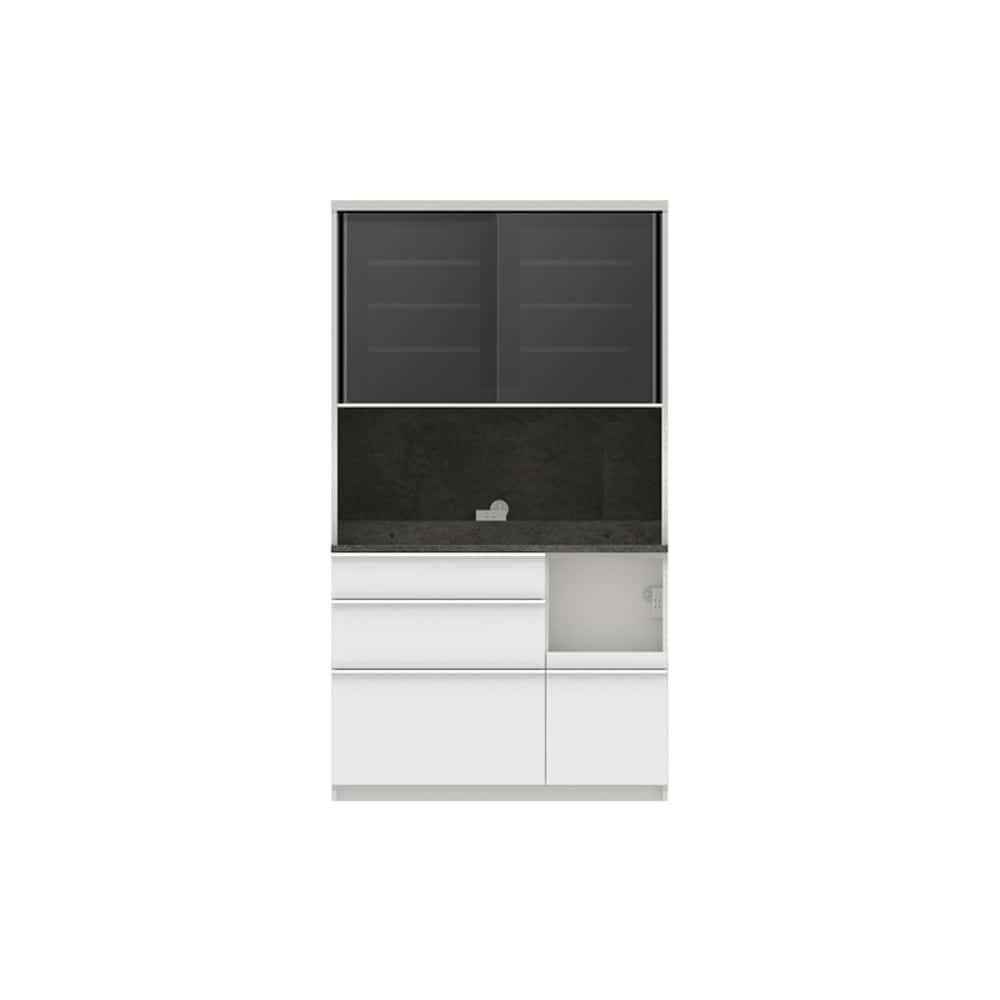 パモウナ ダイニングボード ディスペンサ RMR−1100R SG/パールホワイト:パントリーの収納術を意識した商品
