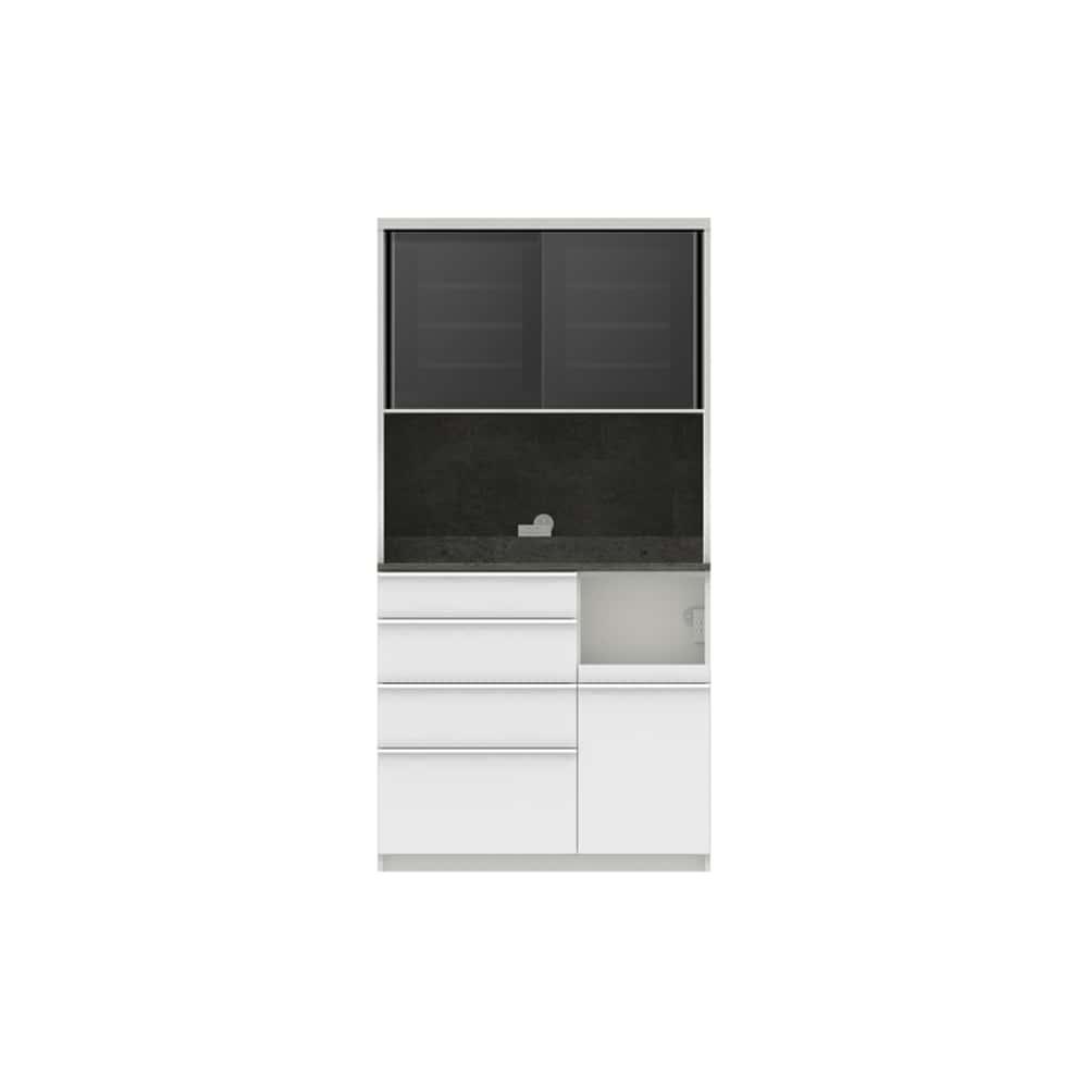 パモウナ ダイニングボード ディスペンサ SQR−1000R SG/パールホワイト:パントリーの収納術を意識した商品