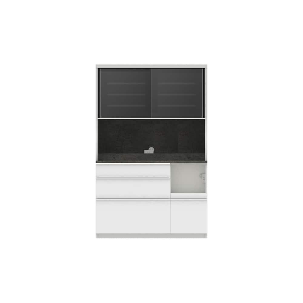 パモウナ ダイニングボード ディスペンサ SMR−1200R SG/パールホワイト:パントリーの収納術を意識した商品
