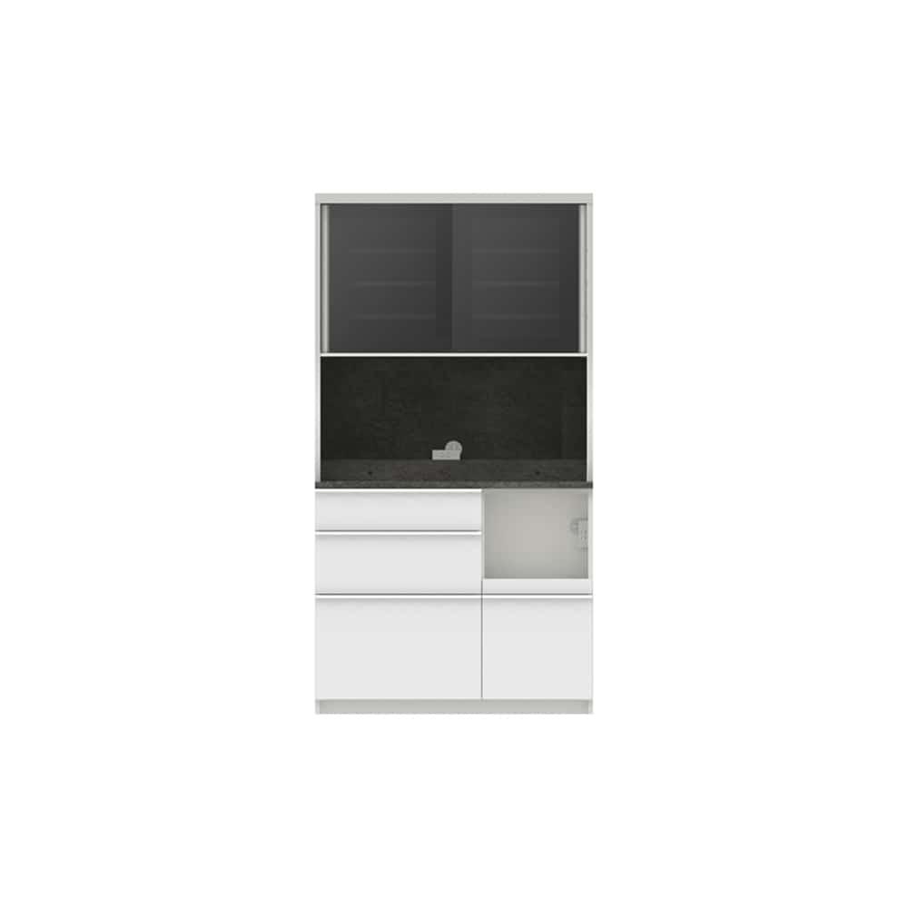 パモウナ ダイニングボード ディスペンサ SMR−1000R SG/パールホワイト:パントリーの収納術を意識した商品
