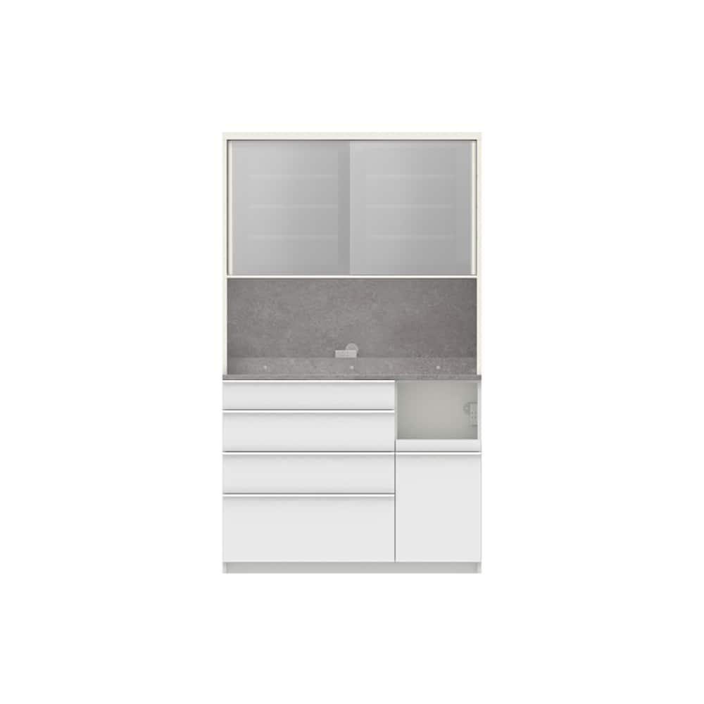パモウナ ダイニングボード ディスペンサ RQR−1200R WG/パールホワイト:パントリーの収納術を意識した商品