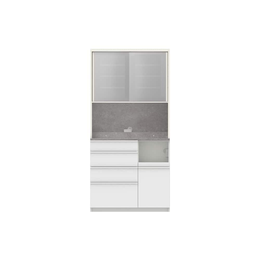 パモウナ ダイニングボード ディスペンサ RQR−1000R WG/パールホワイト:パントリーの収納術を意識した商品