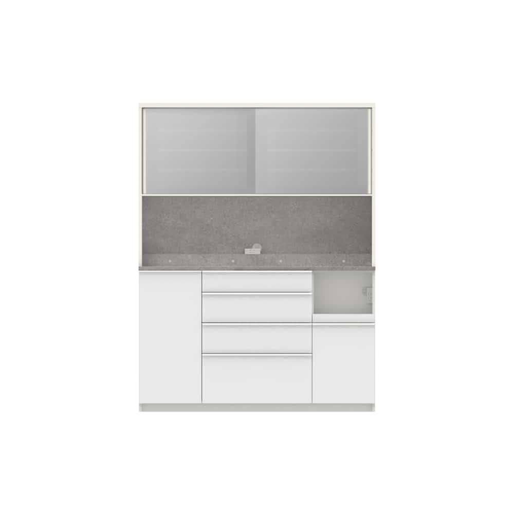 パモウナ ダイニングボード ディスペンサ RMR−1500R WG/パールホワイト:パントリーの収納術を意識した商品