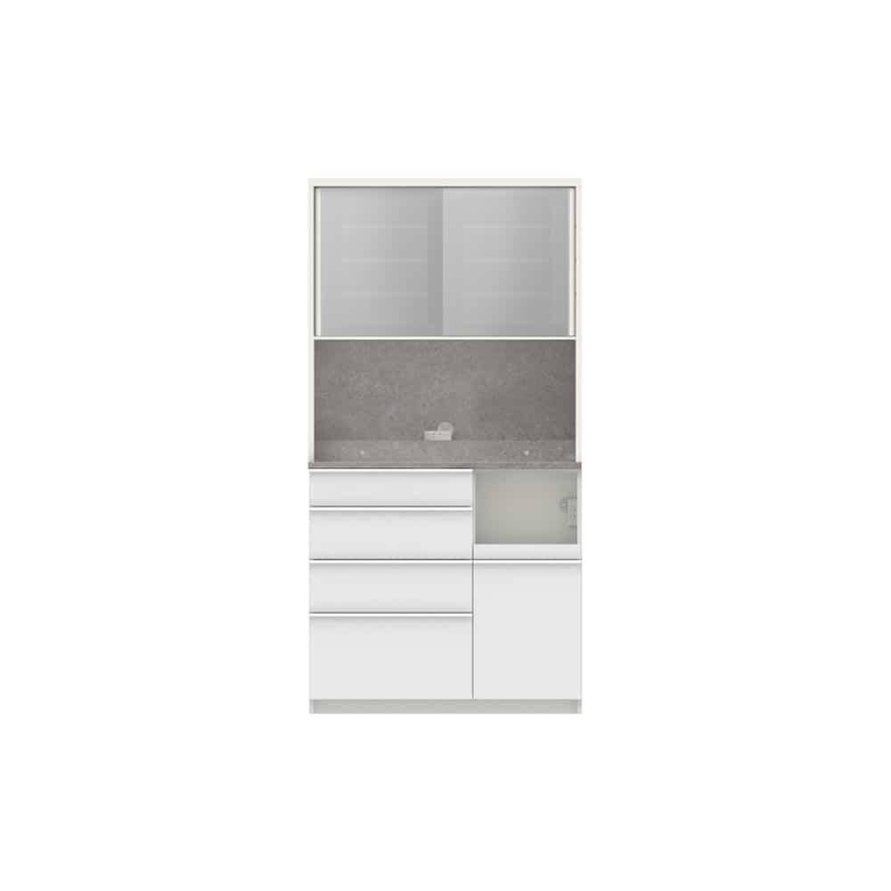 パモウナ ダイニングボード ディスペンサ RMR−1000R WG/パールホワイト:パントリーの収納術を意識した商品