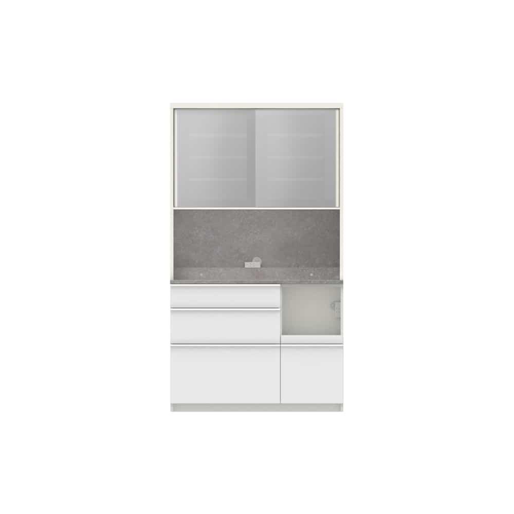 パモウナ ダイニングボード ディスペンサ SQR−1100R WG/パールホワイト:パントリーの収納術を意識した商品