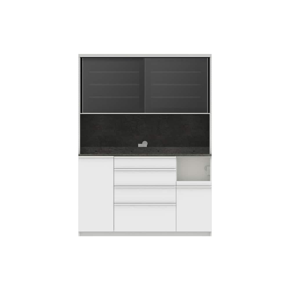 パモウナ ダイニングボード ディスペンサ RQR−S1500R SG/パールホワイト:パントリーの収納術を意識した商品