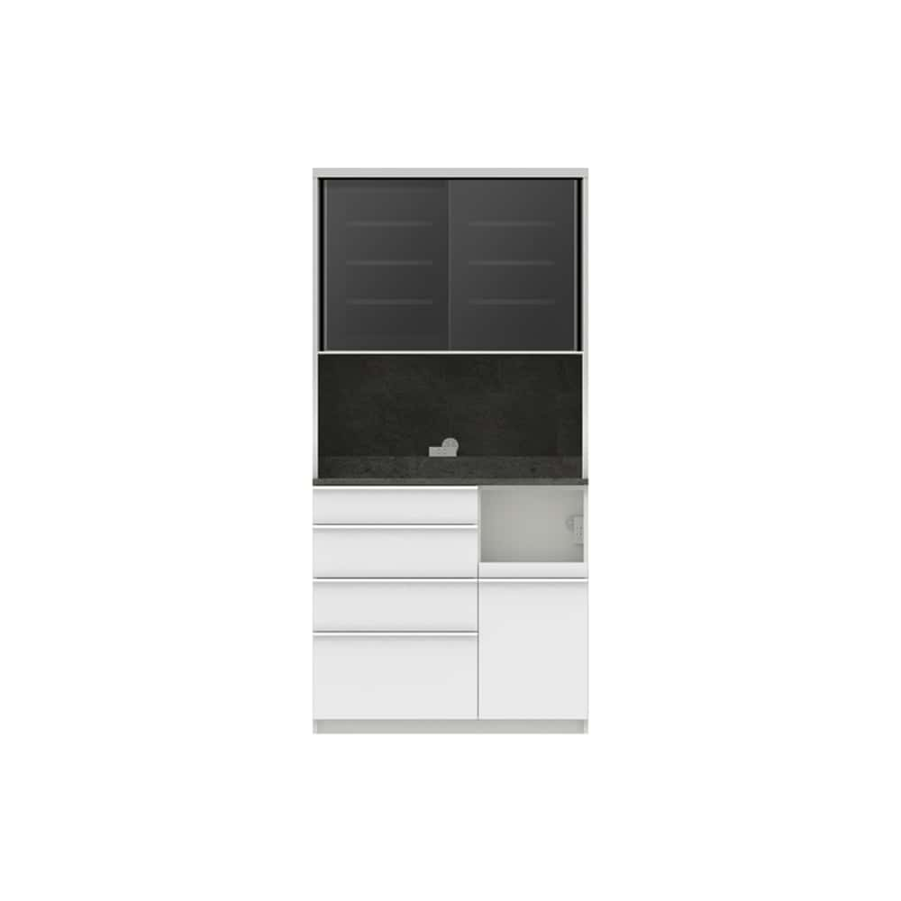 パモウナ ダイニングボード ディスペンサ RQR−S1000R SG/パールホワイト:パントリーの収納術を意識した商品