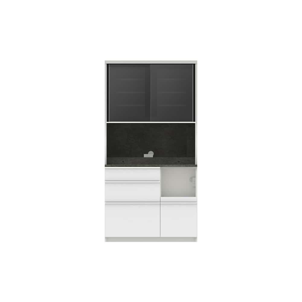 パモウナ ダイニングボード ディスペンサ RMR−S1000R SG/パールホワイト:パントリーの収納術を意識した商品
