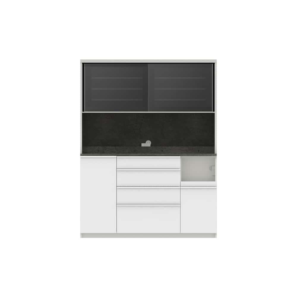 パモウナ ダイニングボード ディスペンサ SQR−S1500R SG/パールホワイト:パントリーの収納術を意識した商品
